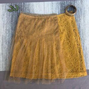 Rodarte mustard yellow skirt